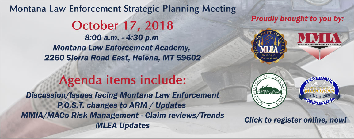 Montana Law Enforcement Strategic Planning Meeting
